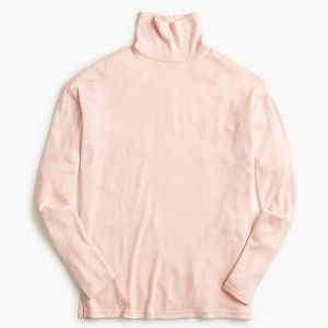 New J.Crew Supersoft Turtleneck Soft Pink Size M